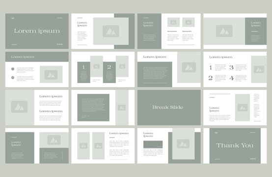 modern brand guide presentation layout design template