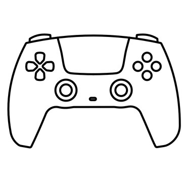 video game controller isolated icon