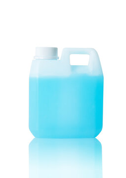 sanitizer gallon alcohol gel protect virus bacteria contagious covid19 disease isolate on white background clipping path