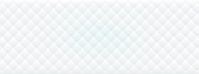 Obraz Abstract white and light gray geometric rhombus  shape background. - fototapety do salonu