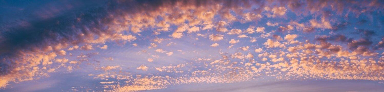 Panorama Altocumuluswolken