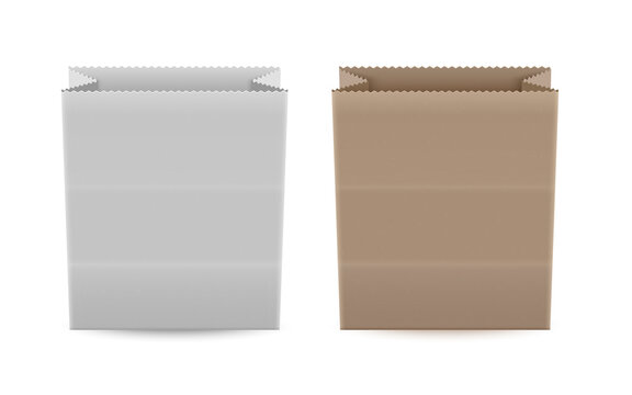 Set of Empty shopping bags isolated on white background, shopping bag in realistic style, vector illustration