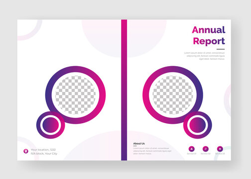 Annual report or book cover design vector templates ready for print