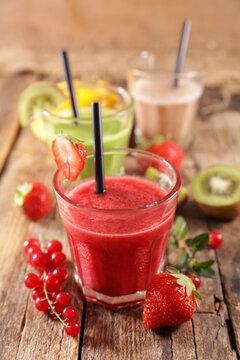 fruit juice-smoothie with fresh fruits