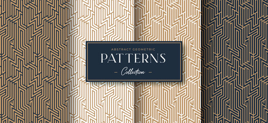abstract luxury geometric pattern collection