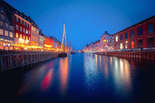 Harbor of Nyhavn, Copenhagen, Denmark, Nord Europe