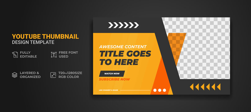 Youtube thumbnail or web banner template
