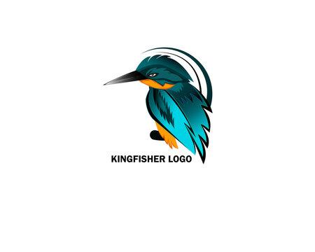 Kingfisher Logo Template Design