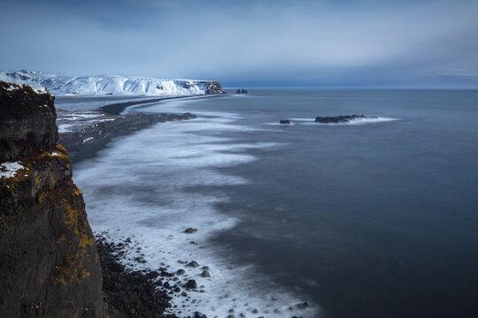 Dyrhólaey Promontory, Iceland, North Atlantic Ocean