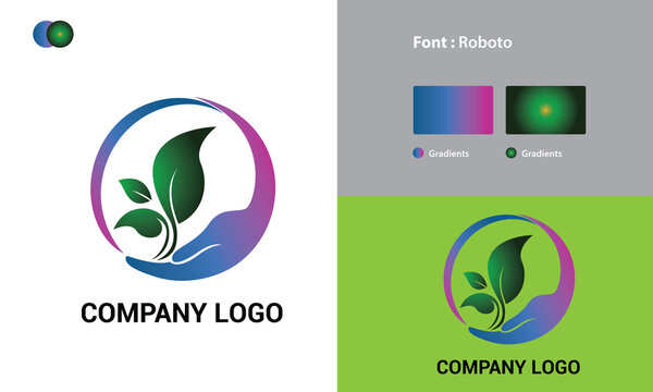 Natural Logo Template Design