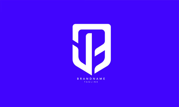 Alphabet letters Initials Monogram logo JB, BJ, J and B