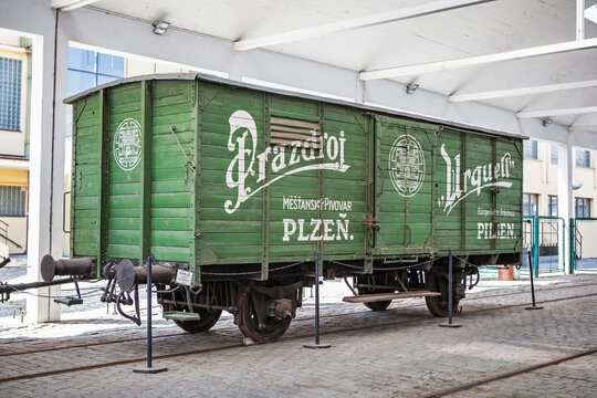 PILSEN, CZECH REPUBLIC-SEP 30, 2019: Brewery in Pilsen, Czech Republic. One of the largest breweries in this country.