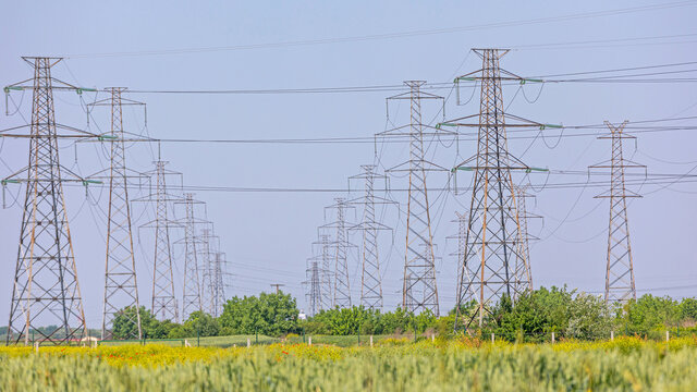 Transmission Towers Power Lines