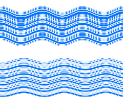 Elements design. Abstract blue wavy stripes overlaying on white background for page brochure, poster. Creative art lines picture. Vector illustration eps 10 Freshness natural theme, Fresh Water