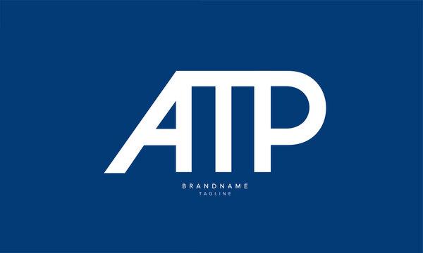 Alphabet letters Initials Monogram logo AMP, AM, MP