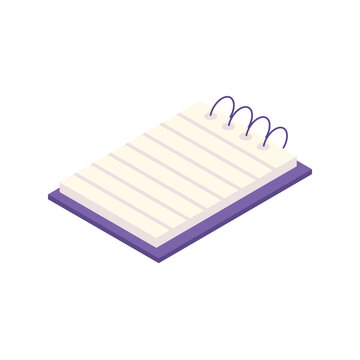 note book supply isometric icon
