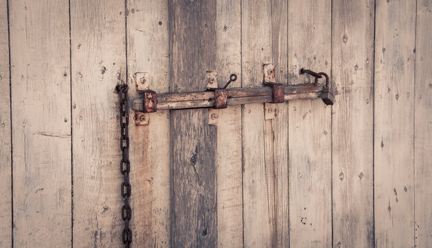 barn latch on a  door
