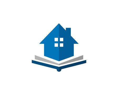 House and book combination  logo