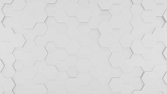 3D hexagon background.Technology and future images. 3d 六角形イメージ