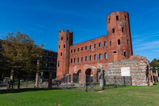 Palatine Towers (Porta Palatina), Turin, Piedmont