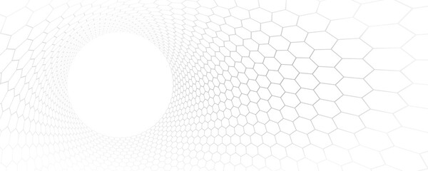 Fototapeta Technology and science vector background, tech abstraction with hexagons mesh electronics and digital style in 3D dimensional perspective, abstract illustration. obraz