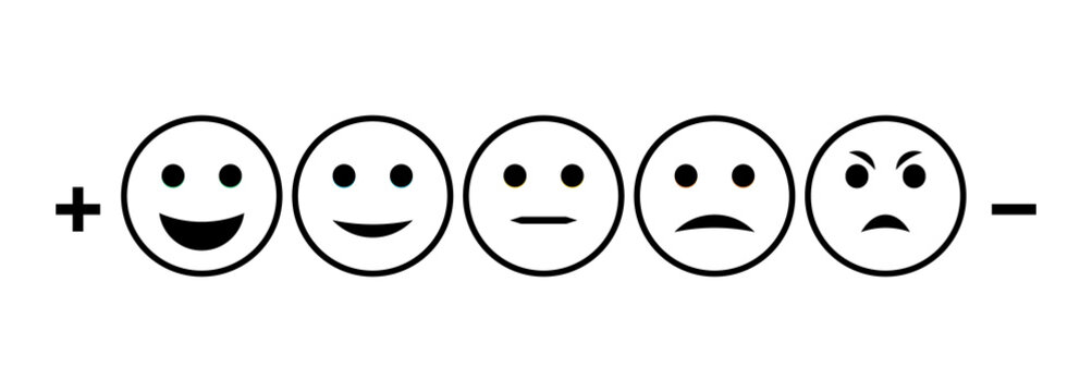 Emotion rating feedback opinion positive or negative.