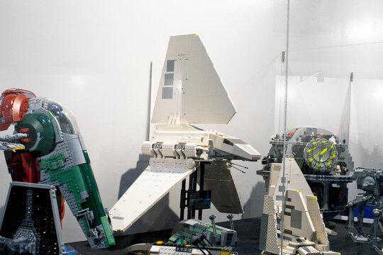 Lego model of a lambda class T-4a star wars imperial shuttle
