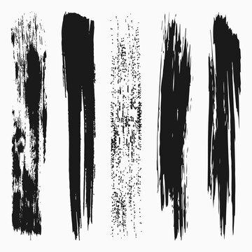 Vertical Brush Stroke Vector Collection
