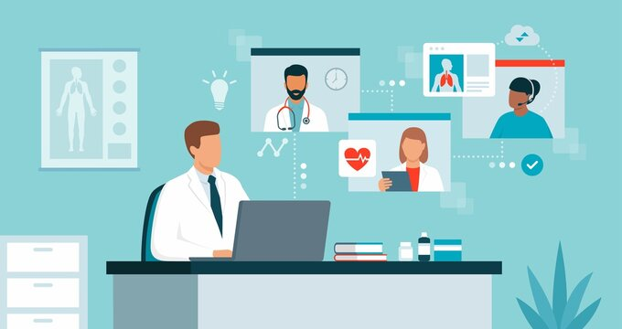 Virtual medical conference and telehealth