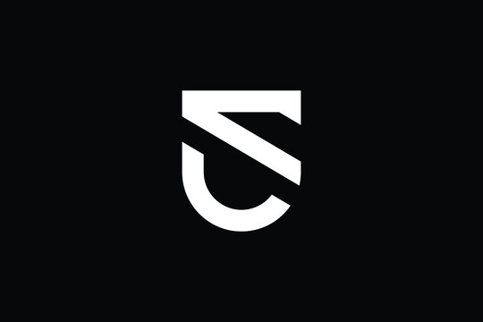 SU logo letter design on luxury background. US logo monogram initials letter concept. SU icon logo design. US elegant and Professional letter icon design on black background. U S SU US