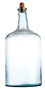 old empty bottle with dust