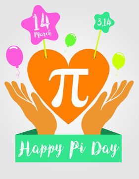 Happy Pi day! Celebrate Pi Day. Mathematical constant. 14 March