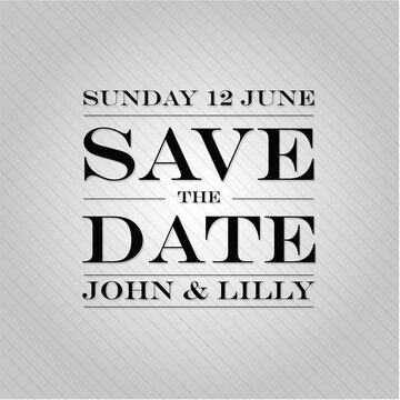 Save The Date annoucement sign vintage