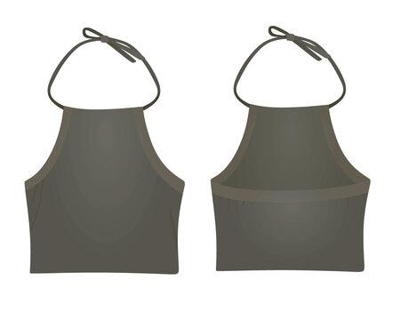 Grey woman stripes top. vector