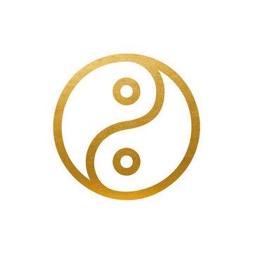 Yin Yang Symbol - Vector Sign