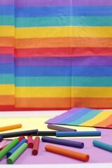 Fototapeta Równość tolerancja tęcza wielokolorowy