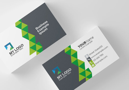 Corporate Clean Business Card Layout