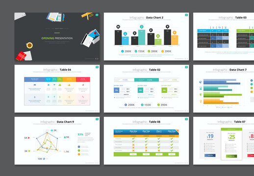 Data Chart and Table Infographic Presentation