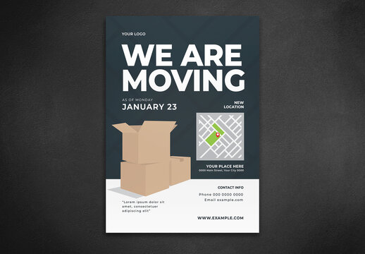 We Are Moving Flyer Layout