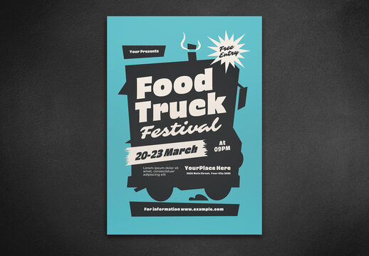 Food Truck Festival Flyer Layout