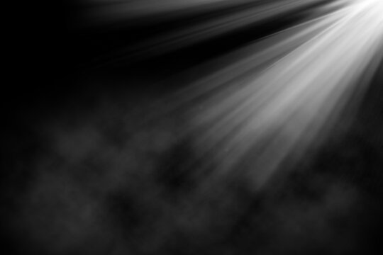 3D grunge background with spotlight shining down in smokey atmosphere