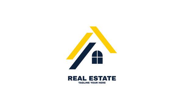 stock illustrator house logo design template business vector icon real estate part 3
