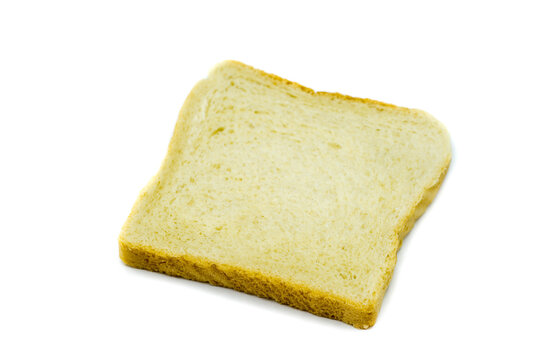 Toast bread isolated on white background