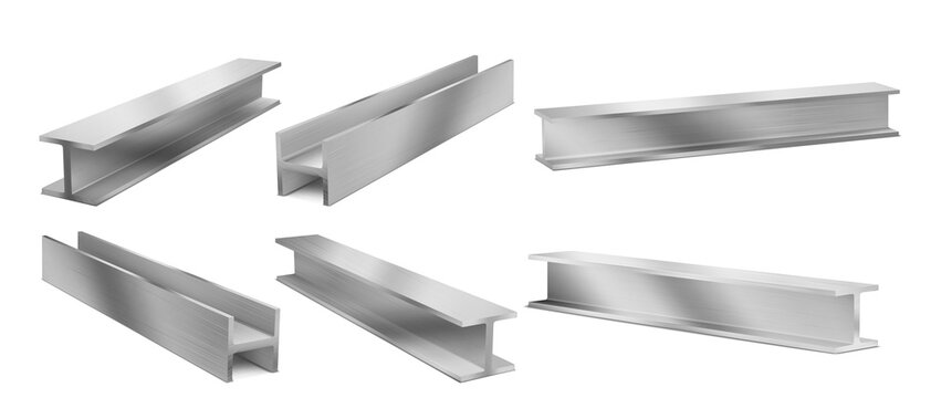 Metal construction beams, structure girders