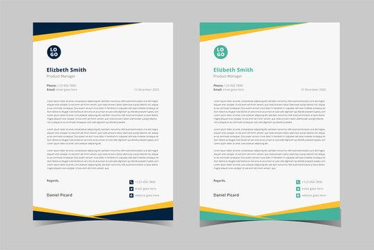 Professional Letterhead Template. Minimalist Letterhead Template. corporate letterhead