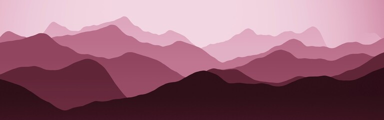 creative hills ridges nature landscape - flat computer graphics backdrop illustration