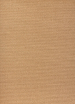 Kraft paper texture vertical striped pattern for wrapping. Kraft paper texture background.