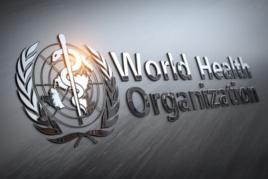 World Health Organization sign and symbol.