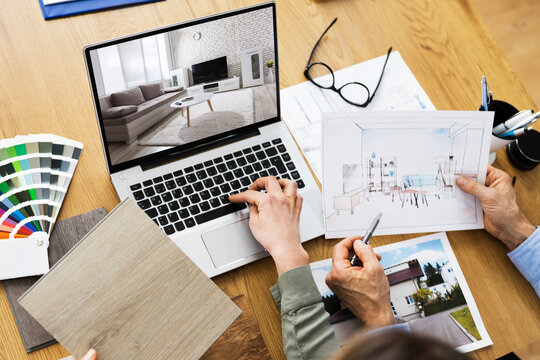 House Designer And Decorators Using Computer