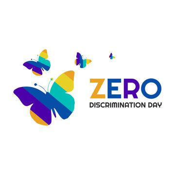 zero discrimination day vector poster rainbow color